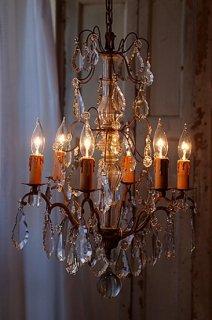 6灯のフレンチシャンデリア-antique french chandelier