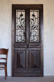 フレンチアイアンドア-antique french iron door