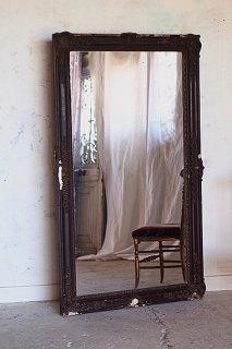シックなアンティークミラー-french antique mirror