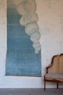 雲に飛べ、空色高く-oil painting picture