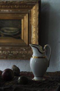 Vieux Paris 陶器のピシェ-antique porcelain pitcher