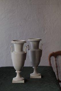 アンピール様式 対の花器-antique pair ceramic vase