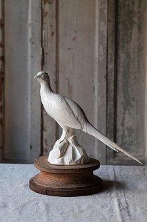 古きを温ねる雉のオブジェ-porcelain pheasant objet