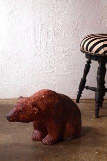 クマさん、優しき瞳-concrete bear objet