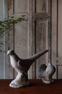 白い鳥のオブジェ-plaster bird object