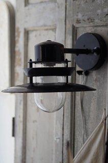 黒のデッキランプ-vintage deck bracket lamp