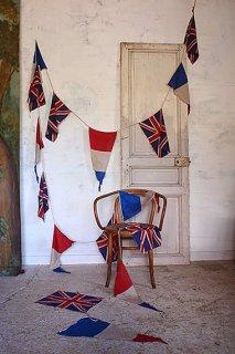 天高く掲げるガーランド-cloth flag garland