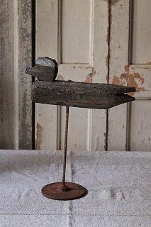 素朴なデコイのオブジェ-antique decoy object