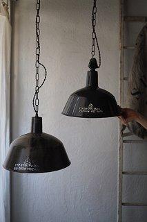 黒いファクトリーランプ No.4-vintage industrial lamp