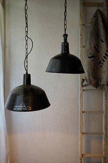 黒いファクトリーランプ No.5-vintage industrial lamp