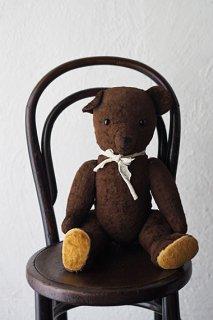 優しいくま、チョコレート色-antique teddy bear
