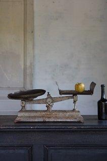 ラスティックな上皿天秤-iron balance