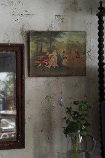 緑深い森の中-oil painting canvas