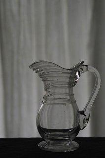 リエージュガラス ・小さなアート-antique glass pitcher