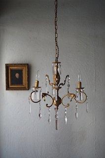 雫に曲 オリエンタルなシャンデリア-vintage glass chandelier