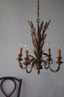麦穂芽吹くシャンデリア-french gold chandelier