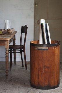 ウッド円筒ボックス-vintage round wood box