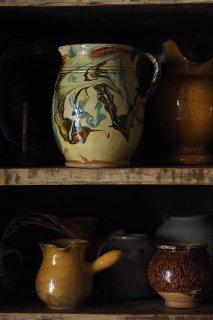 石目、葉脈なマーブルを楽しむ-antique porcelain pitcher