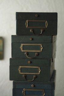 ツイードブルーの分類箱-blue paper box
