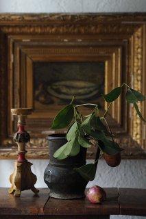 かしめた銅水差し-antique copper milk jug