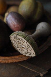 イタリア木柄押し印-antique wood stamp