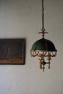 開けよう、舞台は開演する-antique green shade pendant lamp