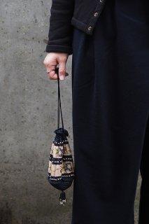 巾着に飴を持っていくのさ-vintage cloth bag