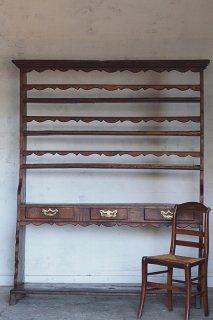 フランス、オークの大きなシェルフ-antique french oak shelf