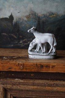 葦毛の馬 相和す-antique porcelain horse objet