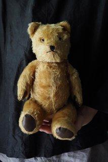 律儀クマさん真正面-vintage teddy bear
