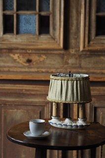 ともしびノスタルジア-porcelain base bouillotte lamp