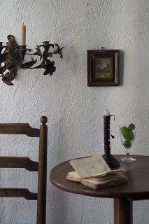 向かう人、タフタ白シャツ-vintage oil painting frame