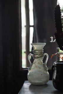 ムラーノガラス花器 虹色掴む-vintage glass vase