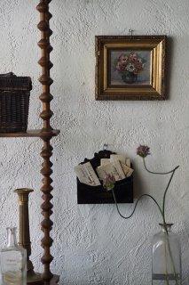 朝ぼらけ、こちらに笑うアネモネ-antique oil painting frame