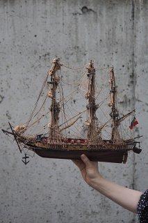 帆走コルベット艦-vintage ship objet
