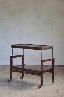 1段⇄2段ティートローリー-vintage or antique oak tea trolley