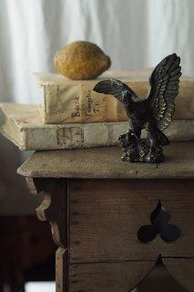 空定め鷲 両翼大きく-bronze eagle objet