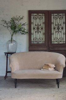 丸みを帯びた長椅子-antique 2 seater sofa