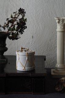 ドラムとトランペット陶器ケース-antique fairing box