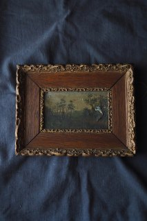 心象 小径と木々油絵-antique oil painting frame