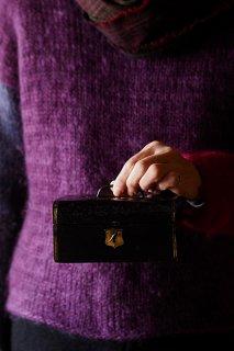 革張り箱 愛でる黒-antique jewelry box