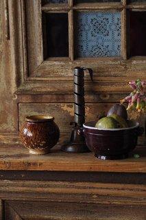 栗DONなうずくまる-antique pottery pot