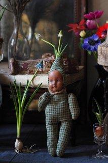 とんがり帽着ぐるみ小人-antique french puppet