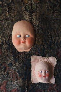 青い眼横目お人形さんお顔-vintage doll face mask