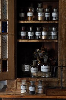 明暗 コントラスト 薬品瓶-antique chemical glass bottle