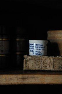 フォントの確立 軟膏ポット-antique pottery ointment pot