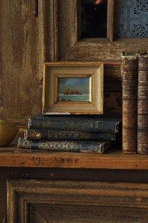 岩礁の館 波しぶきの白-vintage oil painting