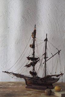 帆船 空をたゆたう-antique sailing ship objet