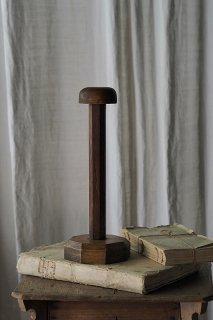 八角形の土台、木製ハットスタンド-vintage hat stand