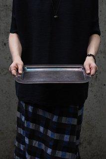 モダン 縁回るメタルトレイ-vintage rectangle metal tray